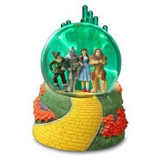 Wizard of Oz Emerald City Musical Snow Globe