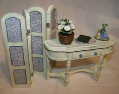 Dolls House Miniatures  Pretty Dresser with by LittleHouseAtPriory