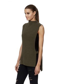 031efc98ca3 Tylisa Mock Neck Vest with Open Sides