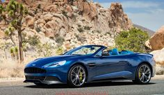 awesome aston martin vantage convertible blue  image hd Aston Martin Vanquish Blue Convertible   Donate a Cars