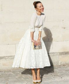 I love a voluminous skirt that shows ankle.