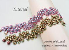 ZIGZAG beaded bracelet beading tutorial beadweaving pattern