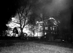 This is an actual pic of the Highland Mental Hospital on fire in Ashville, N.C. on March 11, 1948, in which Zelda and 8 other women died that night. If only they hadn't locked her in her room and caused such an incredible tragedy. Now her ghost lingers there to this day.....