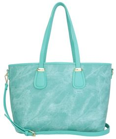 cd5e6bcd197f Aitbags Tote Handbag or Work Bag-PU Leather-Denim Color-Lightweight and  Large Crossbody Shopping Bag