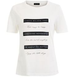 Slogan tees are perfect for everyday looks