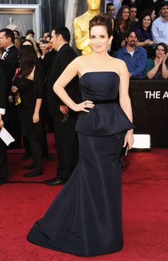 Tina Fey - this dress  is such a regal colour and she is absolutely stunning :) from: Oscars 2012 Red Carpet Arrivals - Pictures from 2012 Academy Awards Red Carpet - Harper's BAZAAR
