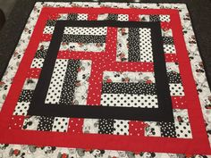 Mickey Mouse Quilt by OSoComfyQuilts on Etsy
