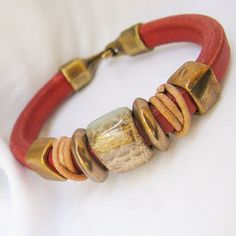 Leather Regaliz Bracelet by Vynyard on Etsy, $30.00