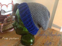 Men's slouchy beanie free crochet pattern