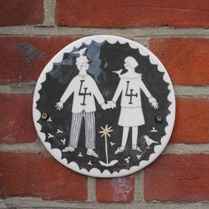 Ceramic house plaque - by Polly Fern. Available to commission - www.pollyfern.com