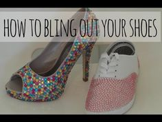 DIY- How to bling out your shoes!