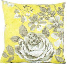 Yellow Rose Pattern Cushion #ghdcandy #yellow