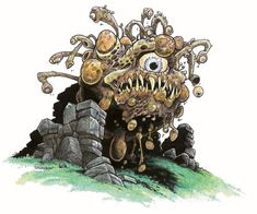 Beholders developed and cultivated a form of fungus known as a Gas Spore to kill potential enemies as they approach. They have an uncanny resemblance to their creators.