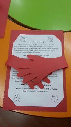 Anneler günü hediyesi Class Bulletin Boards, Mather Day, Teachers Day Card, Exploding Box Card, Teacher Notebook, Teachers' Day, Interactive Notebooks, Writing Activities, Diy Birthday