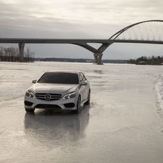 The ability to more or less walk on water is just one reason the E-Class is the epitome of the mid-size luxury sedan.   #EClass #instacar #Mercedes #Benz #4MATIC