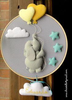 Fil süs Baby Bedroom, Baby Room Decor, Nursery Decor, Designer Baby, Baby Design, Baby Crafts, Home Crafts, Creation Deco, Felt Baby