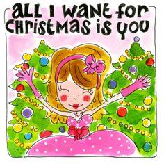 Meisje in grote roze jurk tussen de kerstbomen- Greetz