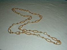 vintage st. john gp pearl necklace sautoir by qualityvintagejewels