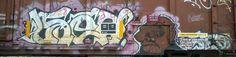 Train tags graffiti art