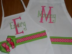 Hey, I found this really awesome Etsy listing at http://www.etsy.com/listing/90632308/monogrammed-mommy-me-apron-set