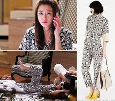 Makes the best lounge wear! Gianna Jeon Ji Hyun (전지현) Stella McCartney Resort 2014 collection.