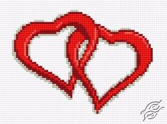 Two Hearts II - Free Cross Stitch Pattern