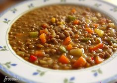 Extremely tasty lentils, easy to make and unusual. Lentil Recipes, Vegetable Recipes, Soup Recipes, Recipies, Greek Cooking, Fun Cooking, Cooking Recipes, Legumes Recipe, Mediterranean Recipes