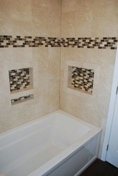 Bathtub niches I installed and tiled