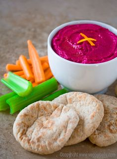 Roasted beet and orange dip