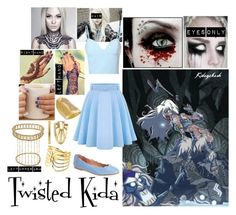"""""""Twisted Disney - Kida"""" by kelsey-aherne ❤ liked on Polyvore featuring Disney, Trina Turk LA, New Directions, Glamorous and French Sole FS/NY"""