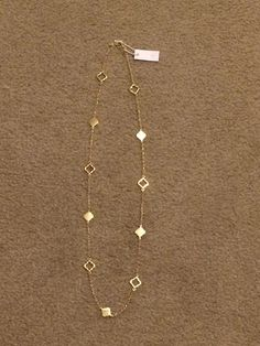 Stitch Fix #1- Bancroft Kaitland Spade Charm Long Necklace Gold  Kept it.  Very versatile and can wear with many things.