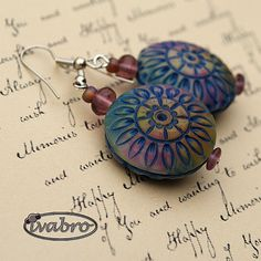 Polymer clay earrings by Iva Bro.