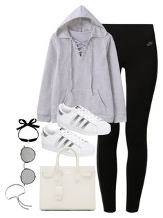 """Untitled #3344"" by theaverageauburn on Polyvore featuring NIKE, adidas, Yves Saint Laurent, Mateo and Monica Vinader"