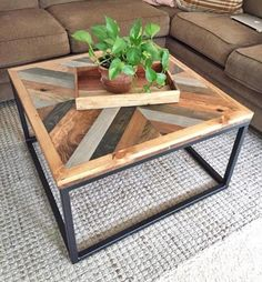 West Elm-Inspired Coffee Table - DIY Coffee Table Ideas