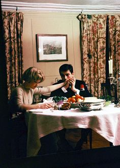 Romy Schneider & Alain Delon at home, 1959