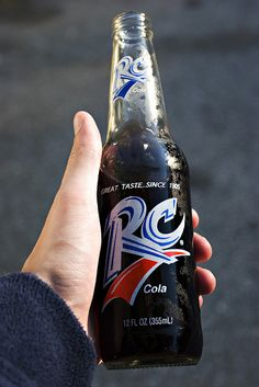 ice-cold, glass-bottle RC Cola