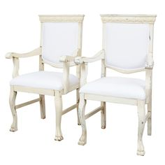 PR/Provence, Royal Looking Distressed Armchairs | From a unique collection of antique and modern armchairs at http://www.1stdibs.com/furniture/seating/armchairs/