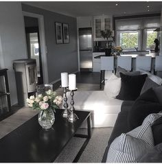 *** Coffee table ideas *** Love this Living Room Decor Cozy, Living Room Grey, Living Room Modern, Interior Design Living Room, Home And Living, Living Room Designs, First Apartment Decorating, Small Apartment Living, Living Room Inspiration