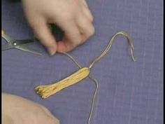 Encrusted Bead Projects : Bead Tassel Craft: Attach String