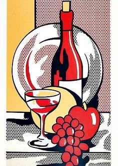 赤ワインのある静物 still life with red wine Roy Lichtenstein セゾン現代美術館 http://ericlittman.com/populart/rl.html