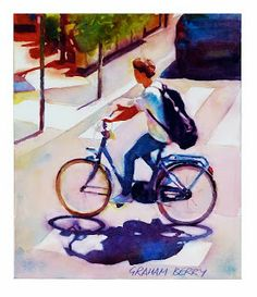 Bicycle art bike art bike racer print bicycle wall art for Bicycle painting near me
