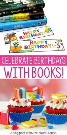 5 tips for celebrating student birthdays with books!  One of the most powerful ways to encourage reading in children is to show them how special books can be. This post shares fun and easy ways to use books to celebrate student birthdays. #thecolorfulapple