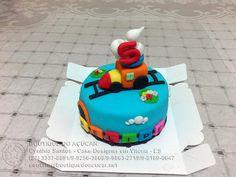 mini bolo trenzinho/litlle train mini cake