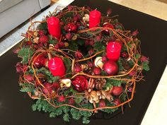 Festive Advent wreath
