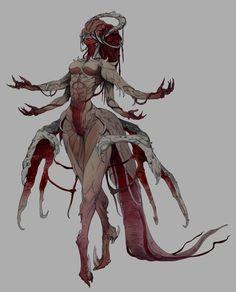 process in 2019 monstros, arte com desen Monster Concept Art, Monster Art, Fantasy Kunst, Dark Fantasy Art, Dream Fantasy, Creature Concept Art, Creature Design, Arte Horror, Horror Art