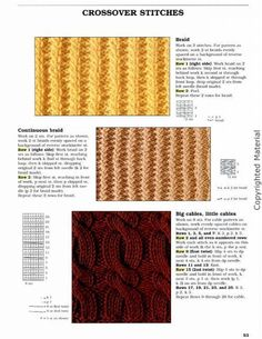 Big Stitch Knitting Patterns : Punto on Pinterest Punto De Cruz, Tejido and Patrones