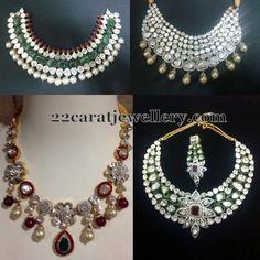 Jewellery Designs: Classic Large Diamonds Choker