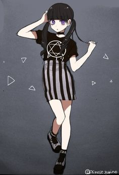"""Find and save images from the """"Pastel Anime"""" collection by deathly ♡ kawaii (delicatemurderer) on We Heart It, your everyday app to get lost in what you love. Manga Girl, Emo Anime Girl, Manga Anime, Pretty Anime Girl, Anime Child, Anime Art, Gothic Anime Girl, Dark Anime, Pastel Anime"""