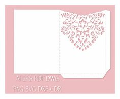 Wedding Invitation Pocket Envelope template 5x7 от NarisariDigitalArt
