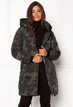 Jakke Mid Length Coat in faux fur, lilac polka, 4 in 2020
